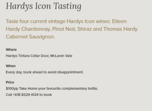 Hardy's Icon Tasting